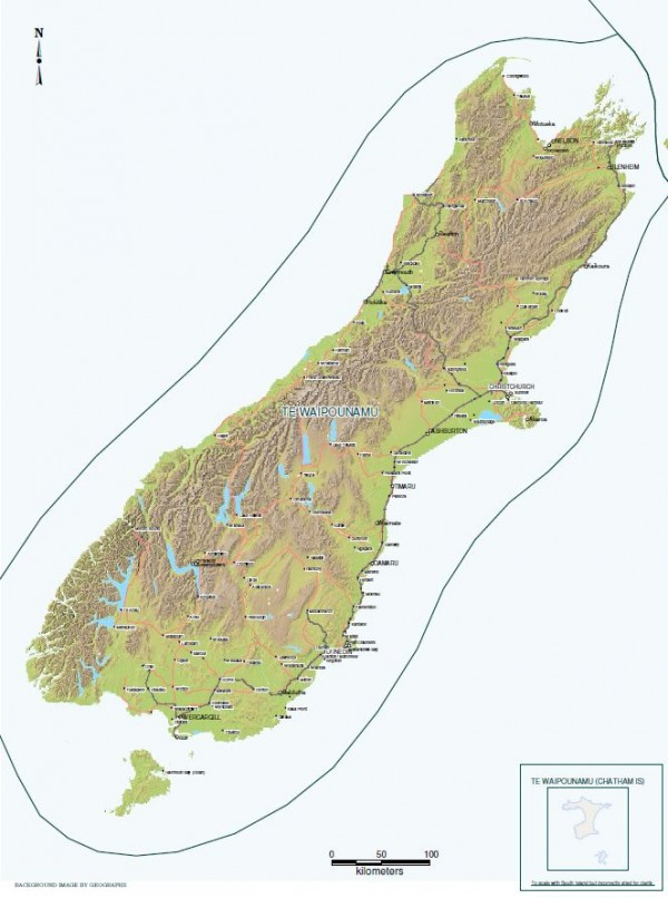 Image of Te Waipounamu District